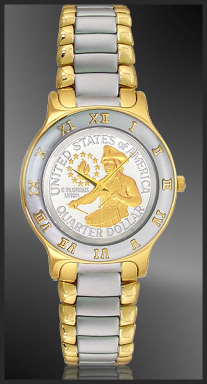 Bicentennial Drummer Quarter Ladies Bracelet Coin Watch R323-QDR2-L2