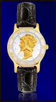 Mercury Dime Ladies Strap Coin Watch R323-WD2-0