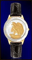 Walking Eagle Half Dollar Ladies Strap Coin Watch R323-WE2-L0