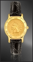 Indian Head Penny Ladies Leather Coin Watch R333-IP3-0