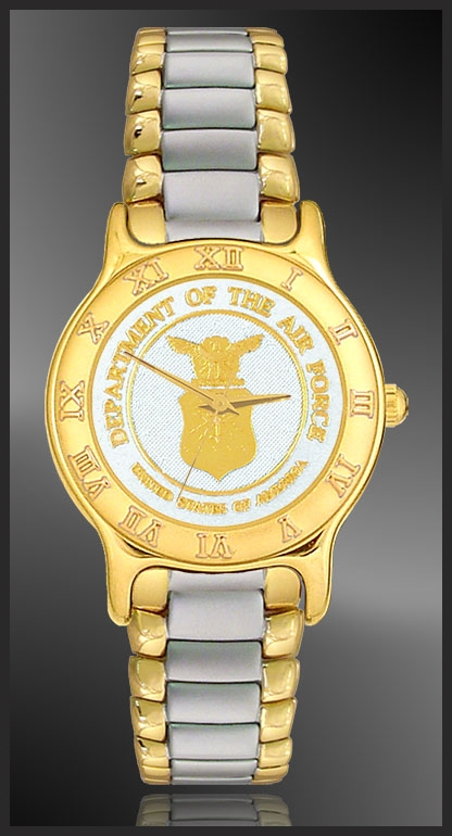 US Air Force Ladies Bracelet Medallion Watch R333-MAF2-L2