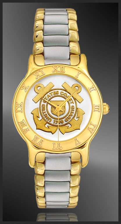 US Coast Guard Mens Bracelet Medallion Watch R333-MCG2-2