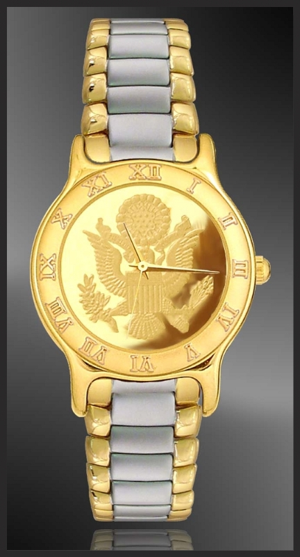 Great Seal Mens Bracelet Medallion Watch R333-MGS3-2