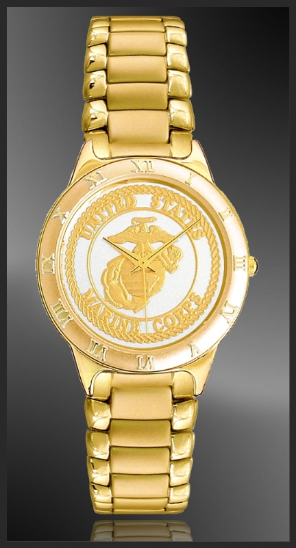 US Marine Corps Mens Bracelet Medallion Watch R333-MMC2-3