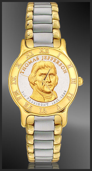 Presidential Dollar Mens Bracelet Coin Watch R333-P02-2