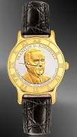Presidential Dollar Mens Strap Coin Watch R333-P02-0
