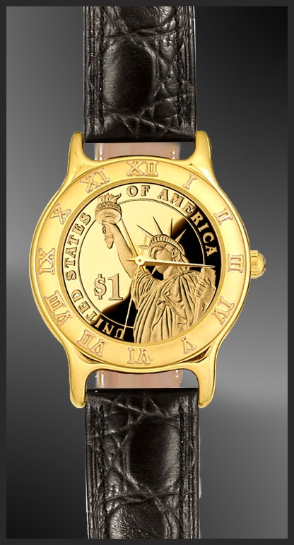 Statue of Liberty Dollar Ladies Strap Coin Watch R333-PSLP-L0