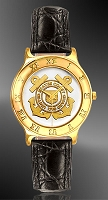 US Coast Guard Mens Strap Medallion Watch R333-QCG2-0