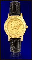 Mercury Dime Ladies Strap Coin Watch R333-WD3-0