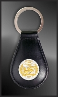 50 State Quarters Leather Key Fob RL24-QUS2