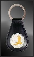 US Eagle Dollar Leather Key Fob RL27-ED2