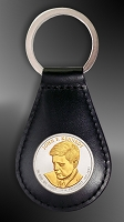 US Presidential Dollar Leather Key Fob RL27-P02