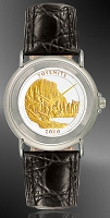 America The Beautiful Quarters Youth/Unisex Silvertone Strap Coin Watches S111-IUS2-0