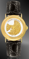 America The Beautiful Quarters Youth/Unisex Goldtone Strap Coin Watches S333-IUS2-0