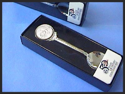 State Quarters Silver Plated Collectible Spoon USMINT-SP1-QUS1