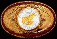 Apollo Landing Dollar Carson City Belt Buckle BB-CC-LD2