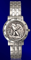 Walking Eagle Half Dollar Mens Bracelet Coin Watch C115-WE9-1