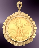 25 Dollar Gold Eagle Nugget Pendant PNG8-25E