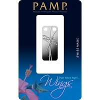 PAMP Dragonfly Pendant 1/5 Ounce Fine Proof Silver Bar