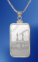 PAMP Mecca 10g Fine Proof Silver Bar Necklace NPCM5-ME10-20DC5