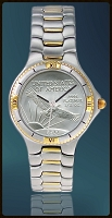 Coinwatch Brand Mens Platinum Eagle Coin Watch UC125-PL509-2