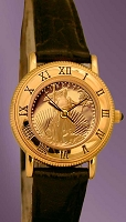 Coinwatch Brand Ladies Solid Gold American Eagle Coin Watch UC335-AE5-5