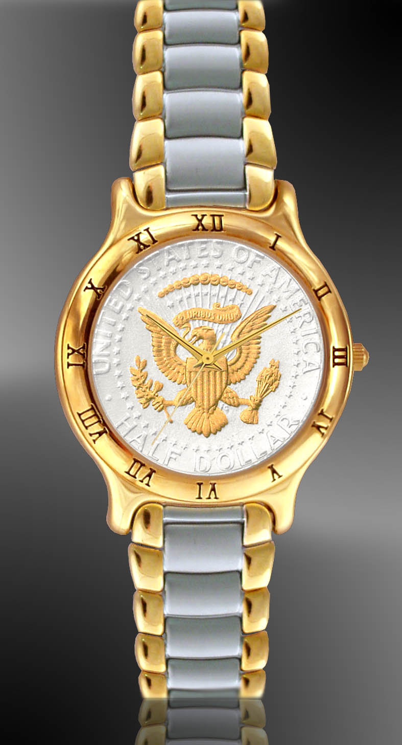 Presidential Seal Mens Bracelet Coin Watch UC335-PS2-2