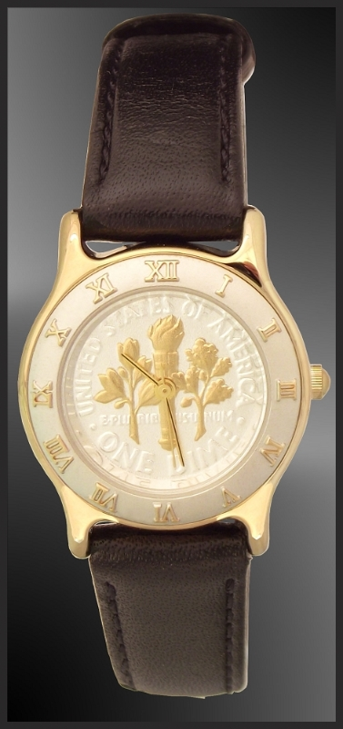 Coinwatch Brand Ladies Torch Dime Watch